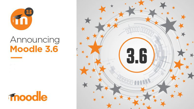 This is an image announcing the Moodle upgrade to 3.6